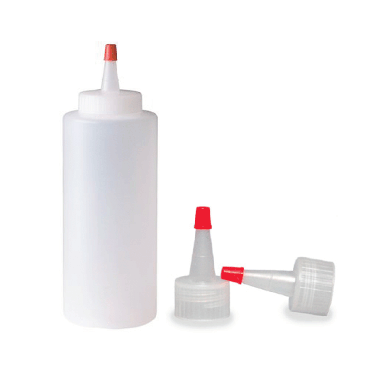 12 OZ PLASTIC WAX BOTTLE WITH YORKER TIP